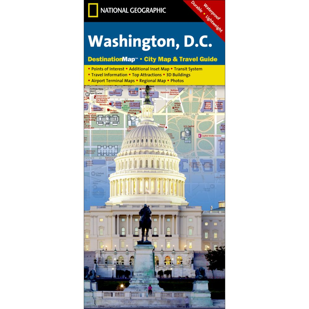 Washington DC City Destination Map National Geographic Store