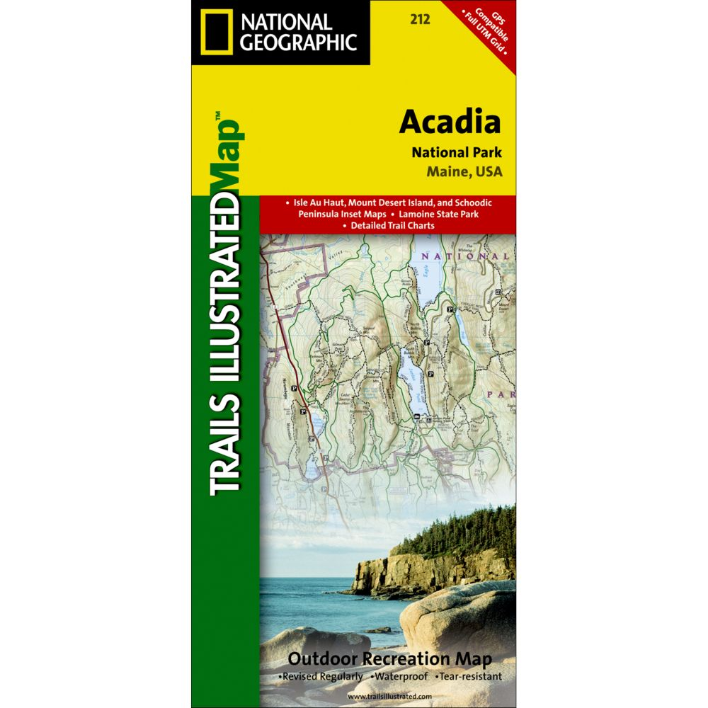 Acadia National Park Trail Map National Geographic Store - Acadia national park on the map of the us