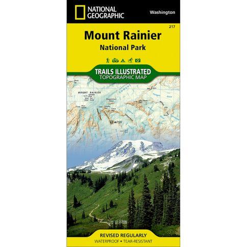 Mount Rainier National Park Trail Map National Geographic Store - Mount rainier on us map