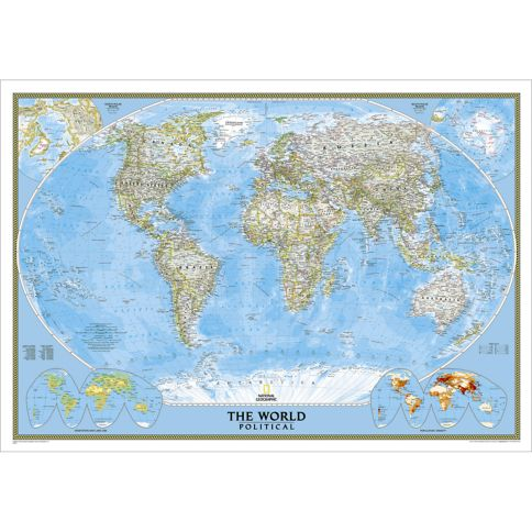 World Classic Wall Map National Geographic Store - World political map