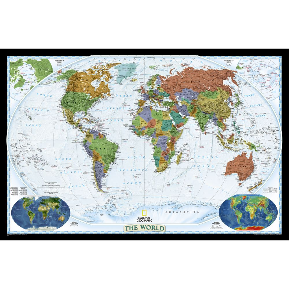World Decorator Wall Map National Geographic Store - World decorator map