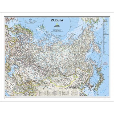 Russia Political Map  National Geographic Store