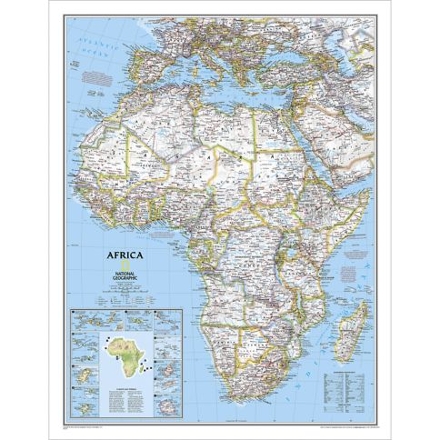 Africa Classic Wall Map National Geographic Store - áfrica map