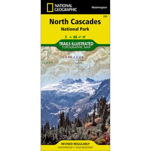 North Cascades National Park Trail Map National Geographic Store - Us map baker peak