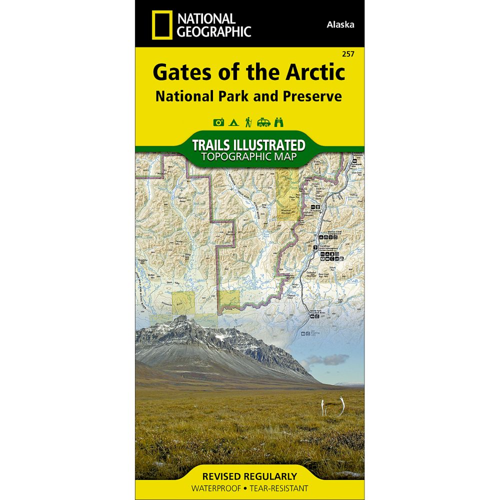 257 Gates of the Arctic National Park  Preserve Trail Map