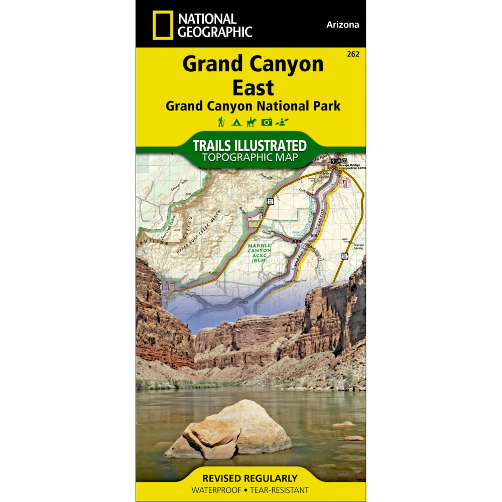 262 Grand Canyon East Grand Canyon National Park Trail Map