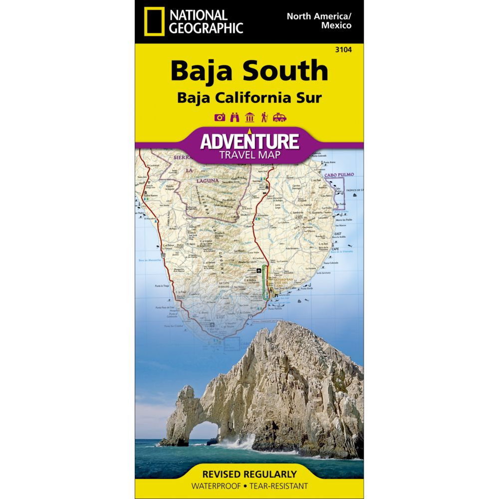 Baja South Baja California Sur Mexico Adventure Map National - Sur america map