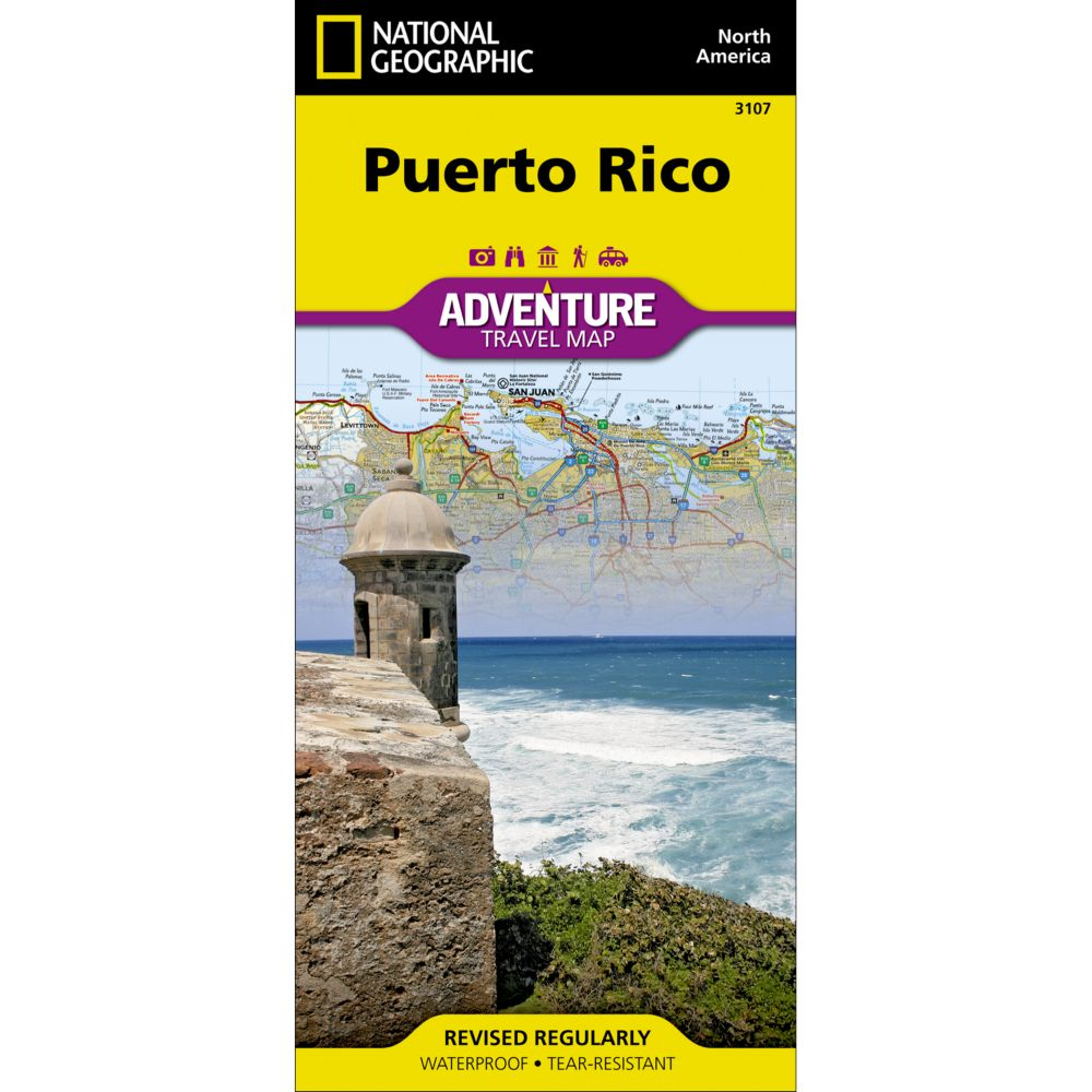 Puerto Rico Adventure Map National Geographic Store
