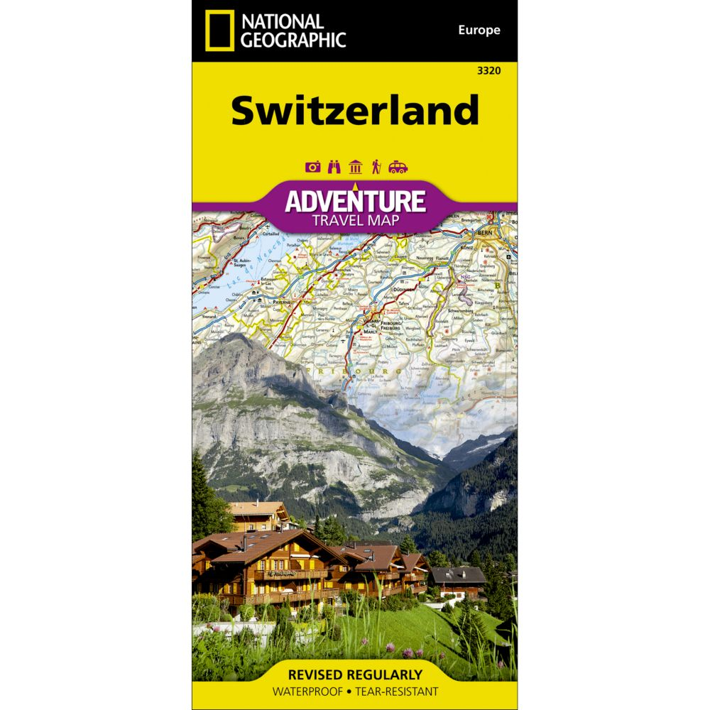 National Geographic Switzerland Adventure Map  National
