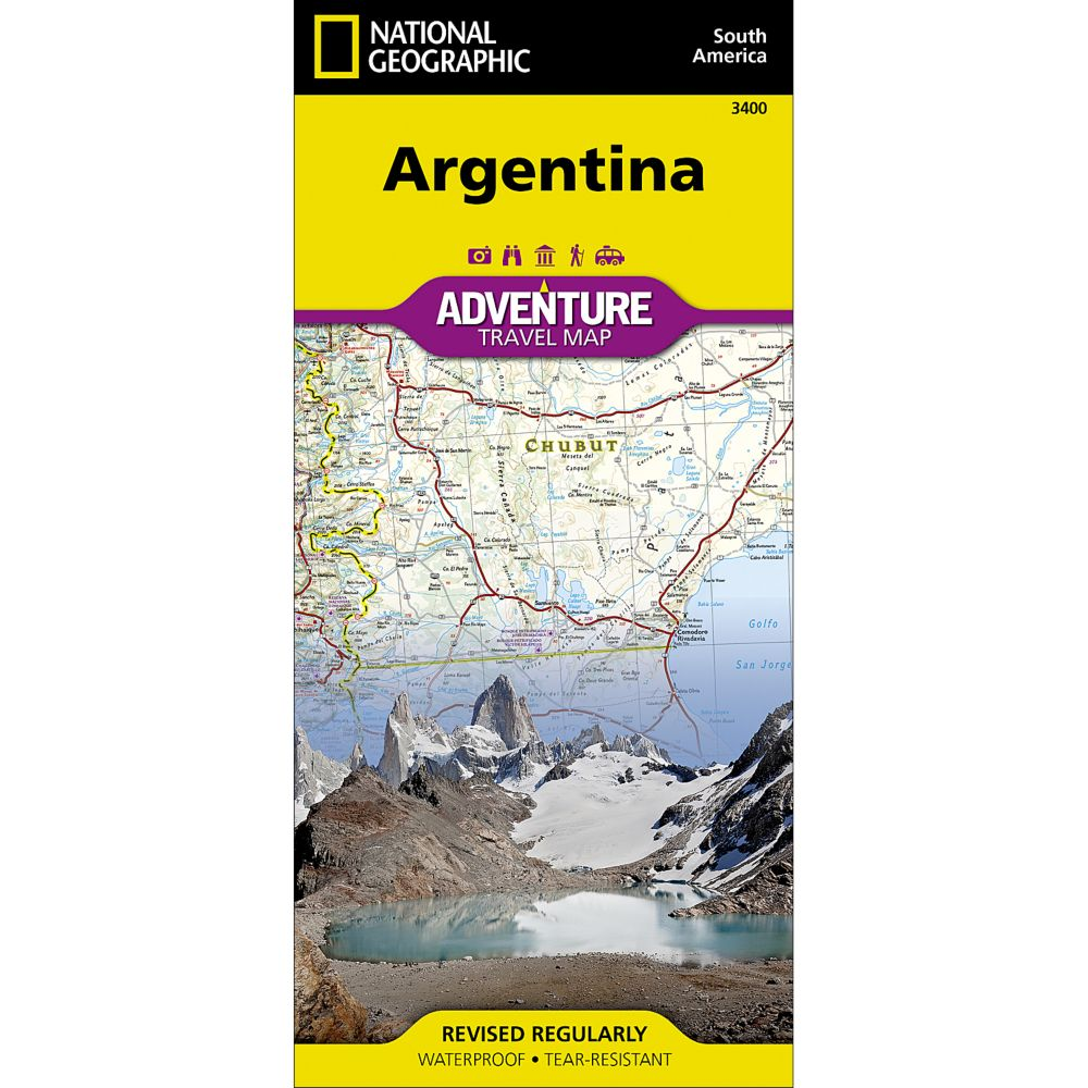 Argentina Adventure Map National Geographic Store - Argentina map for sale