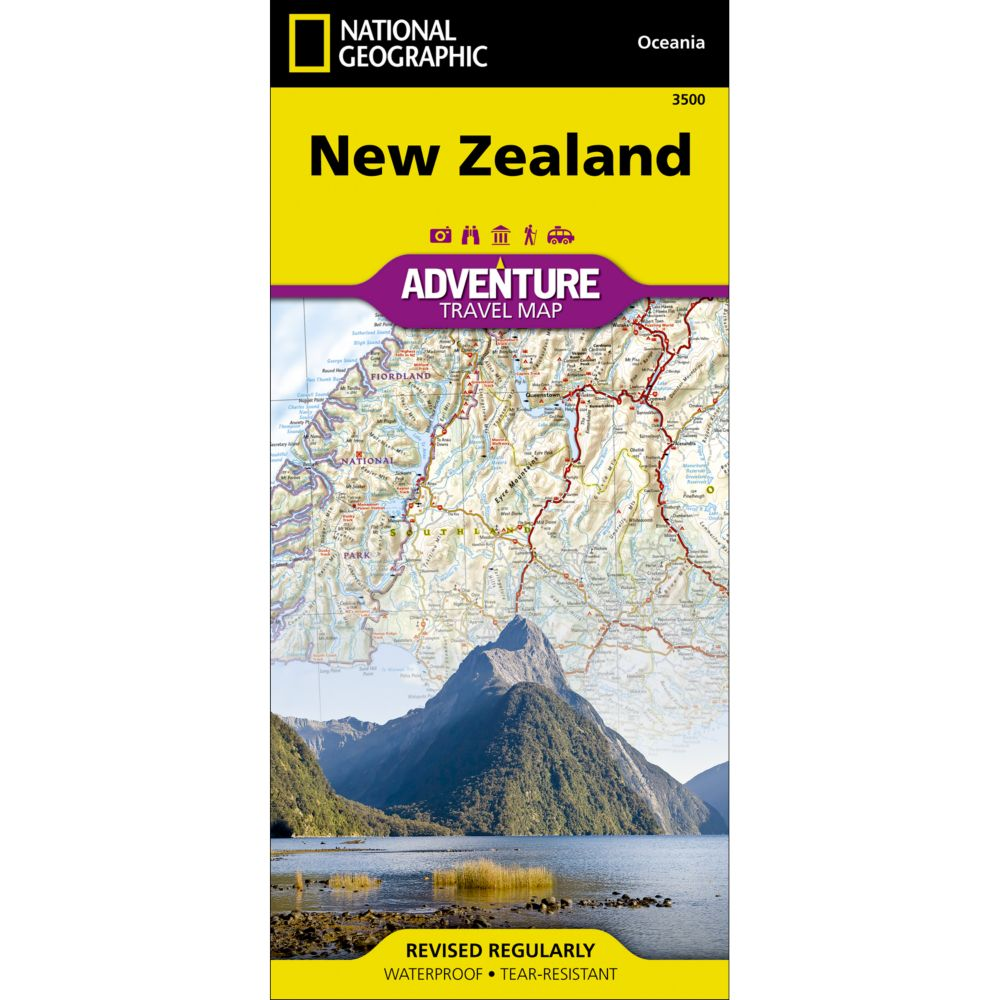 New Zealand Adventure Map  National Geographic Store