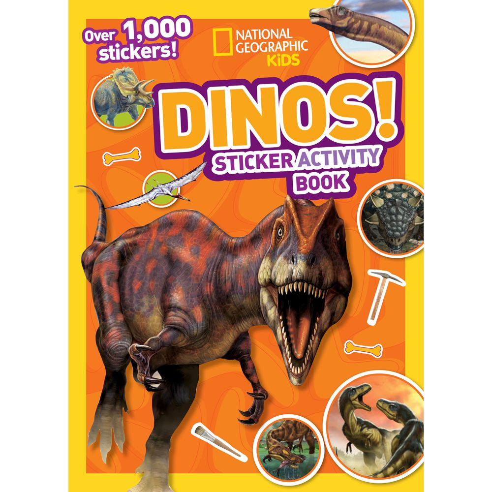national geographic kids dinos sticker activity book national