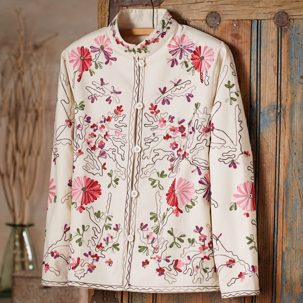 Indian Embroidered Floral Jacket - National Geographic Store
