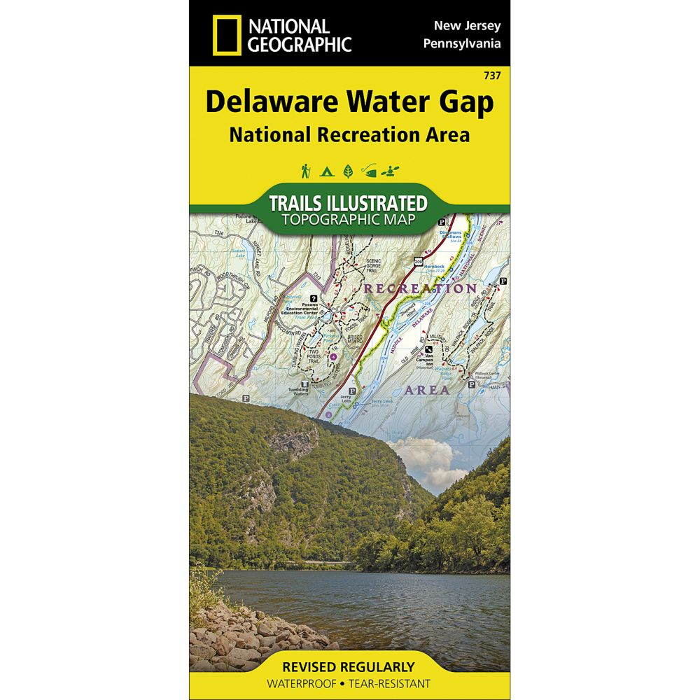 737 Delaware Water Gap Trail Map  National Geographic Store
