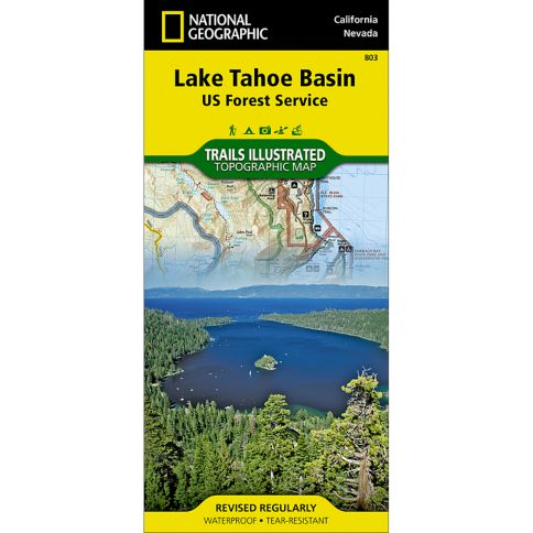 Lake Tahoe Basin US Forest Service Trail Map National - Us forest service topographic maps