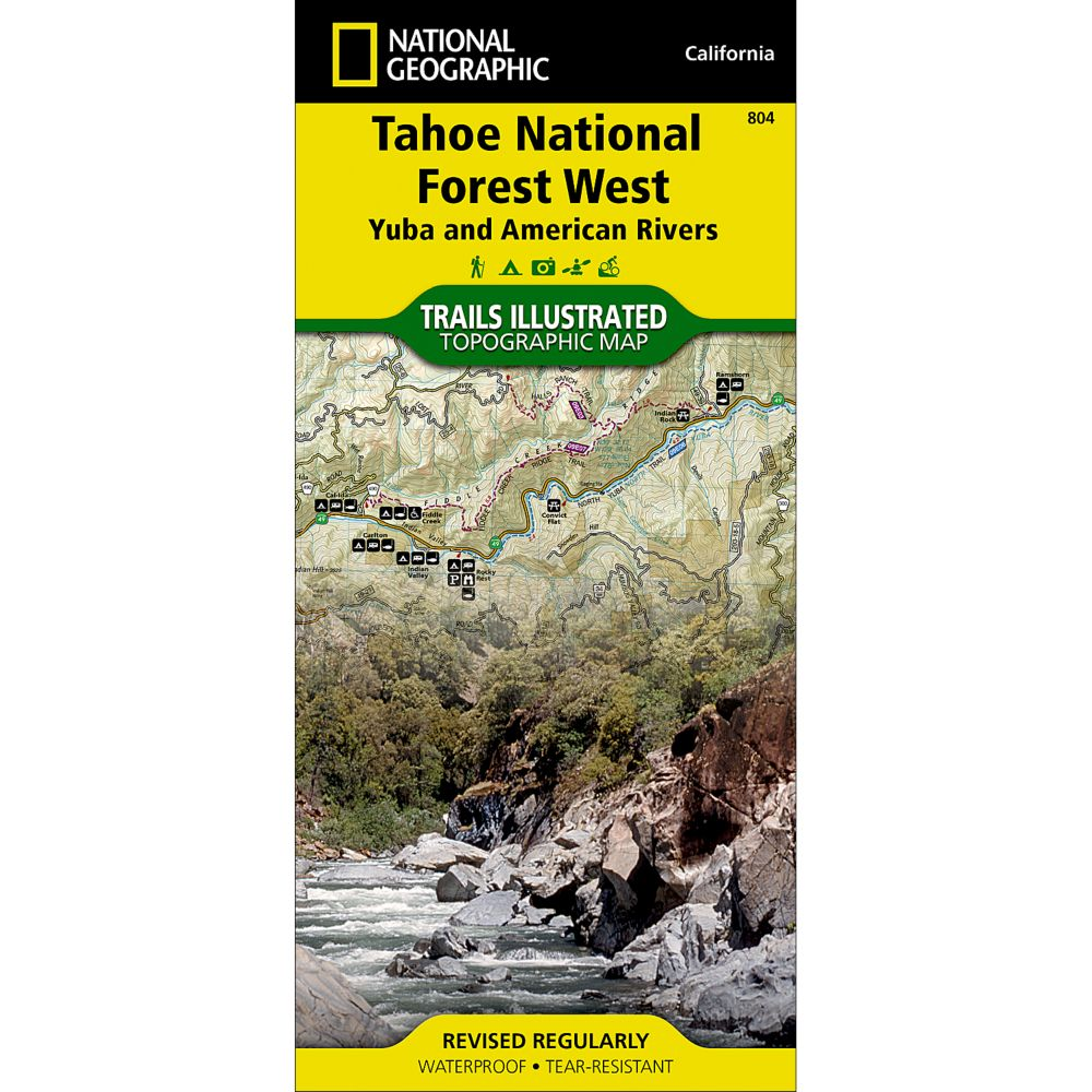 Tahoe National Forest West Yuba And American Rivers Trail - Lake tahoe us map