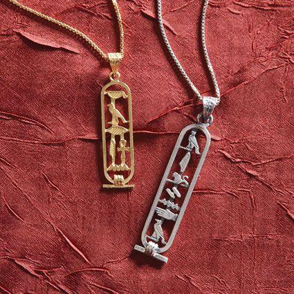 Personalized egyptian cartouche pendants national geographic store aloadofball Choice Image