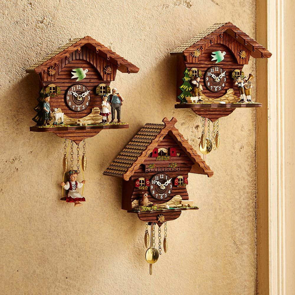 black forest mini cuckoo clock national geographic store. Black Bedroom Furniture Sets. Home Design Ideas