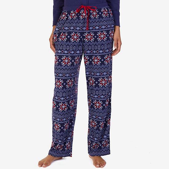 Printed Waffle Pajama Pant - Pilot Blue