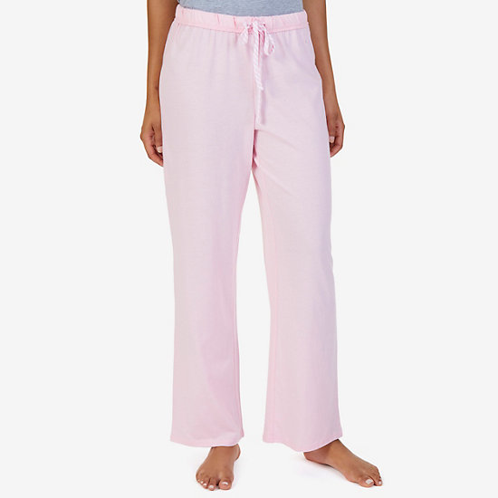 Knit Solid Ankle Pants - Orchid Pink