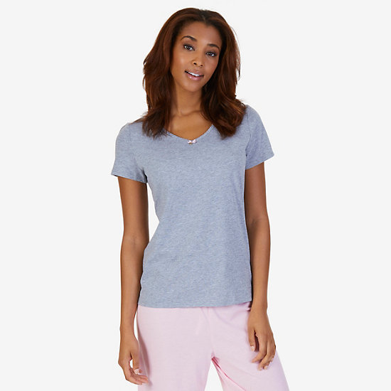 Classic V-Neck Shirt - Ice Grey Heather