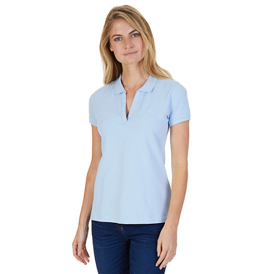 Split-Neck Classic Fit Polo Shirt - Crystal Bay Blue