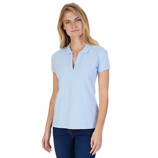 Split-Neck Polo Shirt - Crystal Bay Blue
