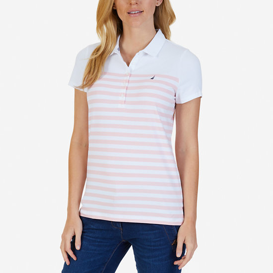 Striped Classic Fit Polo Shirt - Edgartown Red
