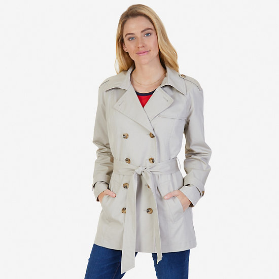 Double-Breasted Trench Coat with Belt - Sandcove