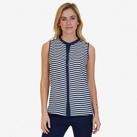 Striped Sleeveless Blouse - Marshmallow