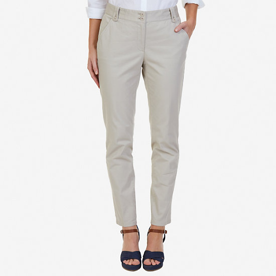 Stretch Twill Ankle Pants - Sandcove