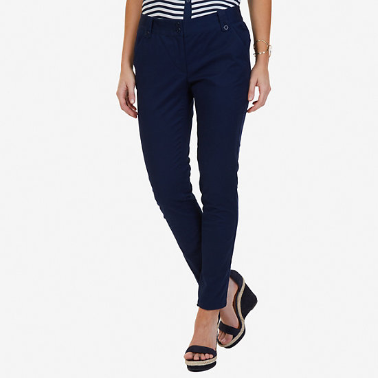 Stretch Twill Ankle Pants - Deep Sea