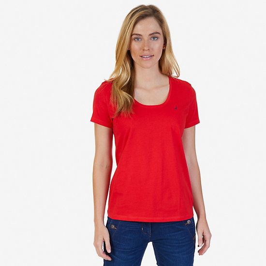 J-Class Logo Short Sleeve T-Shirt,Tomales Red,large