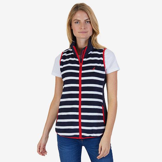 Striped Nautex Fleece Vest