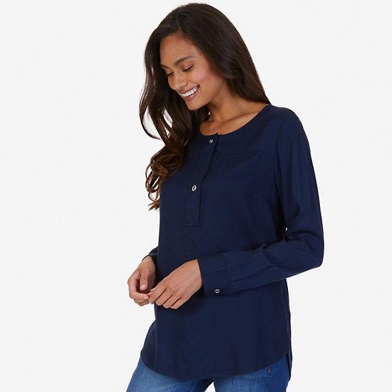 Popover Shirt - Dreamy Blue