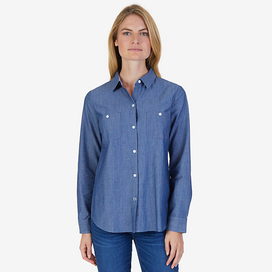 Chambray Perfect Shirt - Nautica Blue
