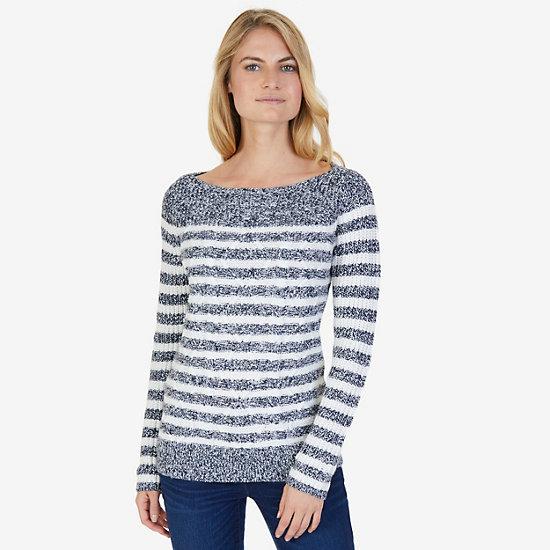 Cable Stripe Sweater - Dreamy Blue