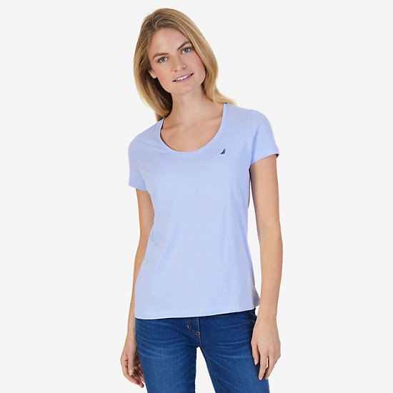 Short Sleeve Scoop-neck Tee - Sport Navy