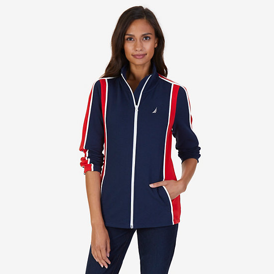 Heritage Zip French Terry Track Jacket - Dreamy Blue