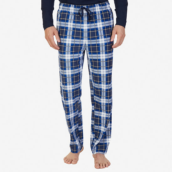 TATTERSAIL PLAID PANT - Indigo Blue