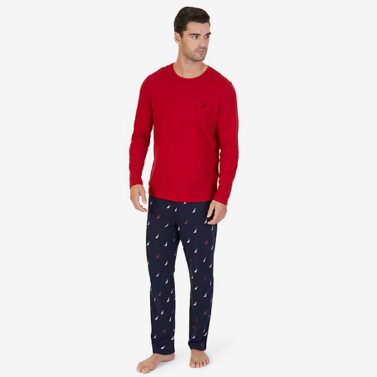 J Class Knit Pajama Set - Nautica Red
