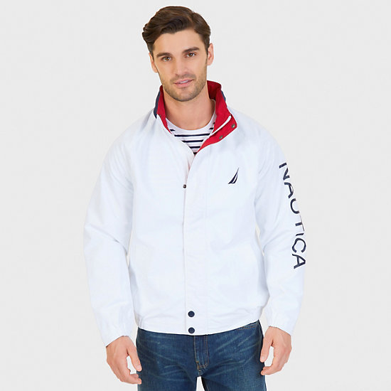 Water Resistant J Class Jacket - Bright White