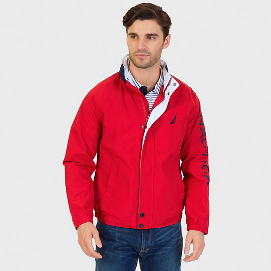 Water Resistant J-Class Jacket - Nautica Red