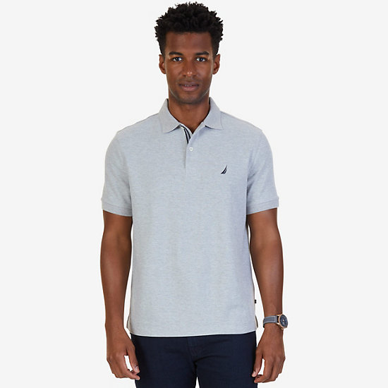 Classic Fit Performance Deck Polo Shirt  - Grey Heather