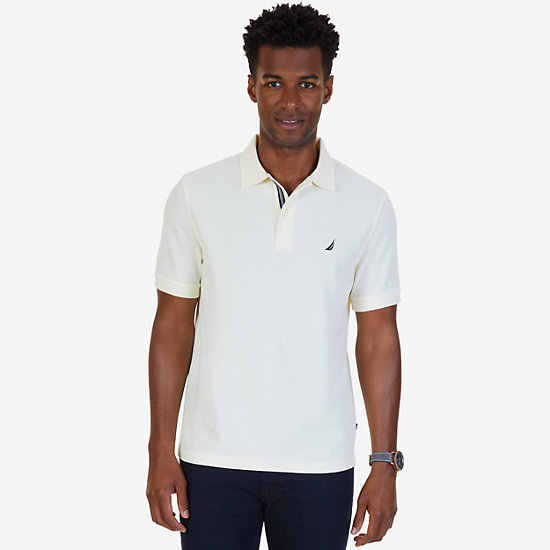 Classic Fit Performance Deck Polo Shirt  - Sail Cream