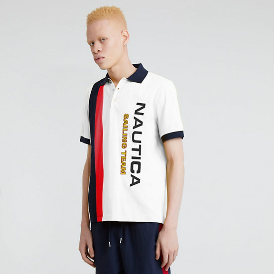 The Lil Yachty Collection by Nautica Color Block Polo Shirt - Bright White