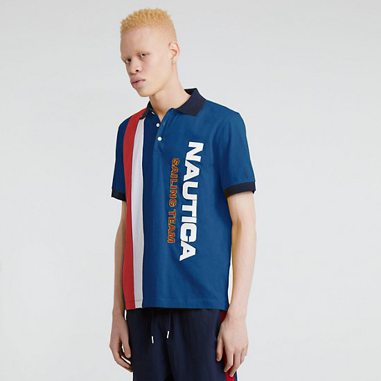 The Lil Yachty Collection by Nautica Color Block Polo Shirt - J Navy