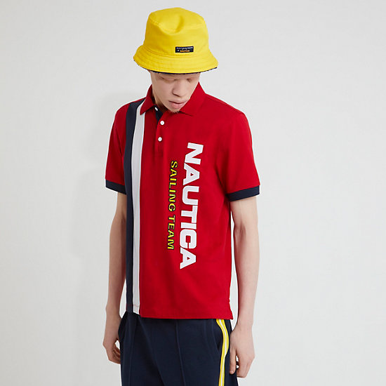The Lil Yachty Collection by Nautica Color Block Polo Shirt - Nautica Red