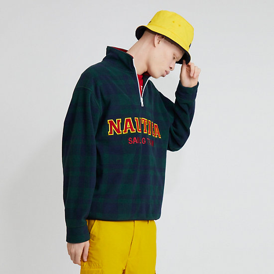 The Lil Yachty Collection by Nautica Quarter Zip Pullover,Evergreen,large