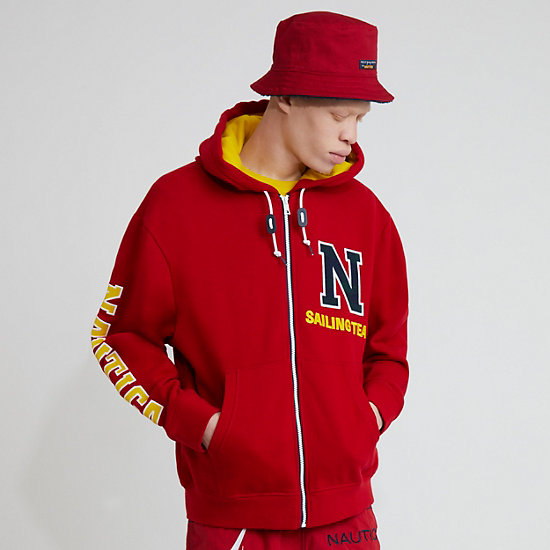 The Lil Yachty Collection  by Nautica Zip-Up Hoodie - Nautica Red